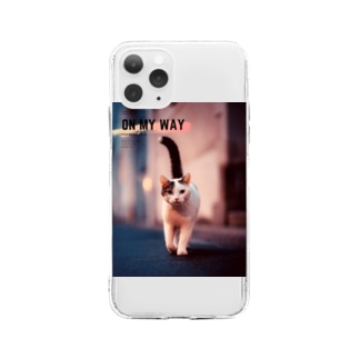 ON MY WAY cat Soft clear smartphone cases