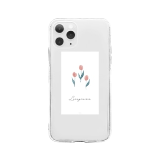 tulip-pink【iphone11】 Soft clear smartphone cases