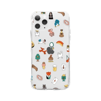 モチーフ Soft clear smartphone cases