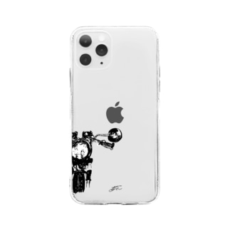 YU バイクイラスト Soft clear smartphone cases
