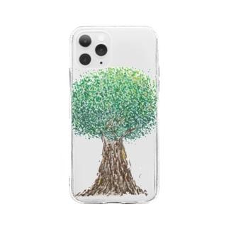 おおきな木 Soft clear smartphone cases