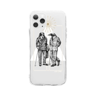 神々の異文化交流会 Soft clear smartphone cases
