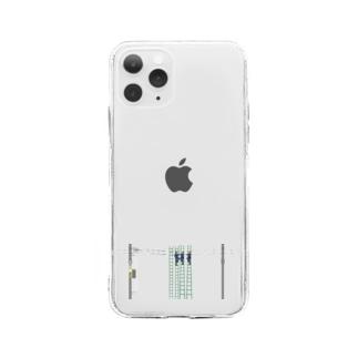 架線工事中 Soft clear smartphone cases