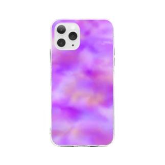 むらさきい。 Soft clear smartphone cases