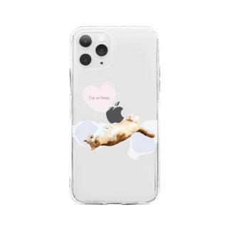 ひとり猫カフェにあにゃあみたらしちゃん Soft clear smartphone cases
