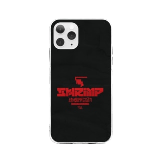 SHRIMPロゴ Soft clear smartphone cases