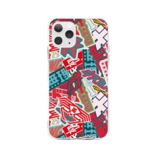 ステッカーボム Soft clear smartphone cases