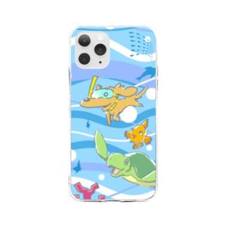 スイムわんこ Soft Clear Smartphone Case