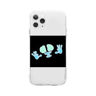 反転FG君 Soft Clear Smartphone Case