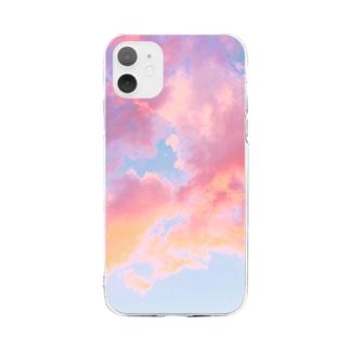照れてる空 Soft clear smartphone cases