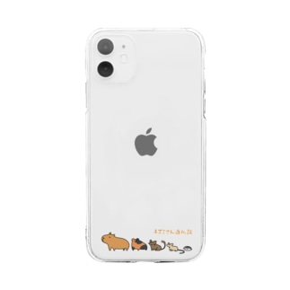 ネズミさん進化論 Soft clear smartphone cases