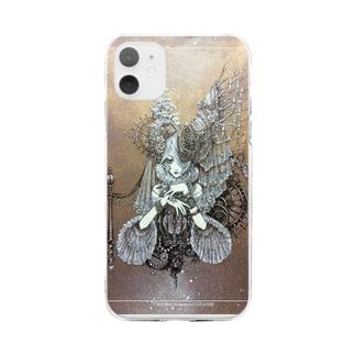 白姫の薔薇の願い事 Soft clear smartphone cases