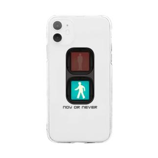 信号機 ( now or never ) Soft clear smartphone cases