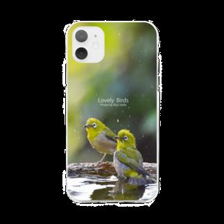 aliveONLINE SUZURI店のLovely Bird Series (LBPC-0003) Soft clear smartphone cases