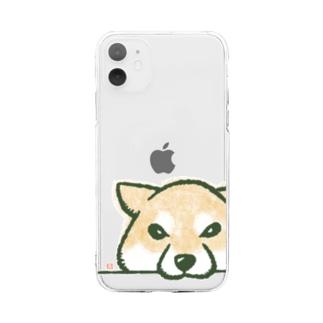 おねだり柴犬 Soft clear smartphone cases