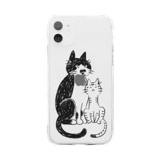 なかよし猫 Soft Clear Smartphone Case