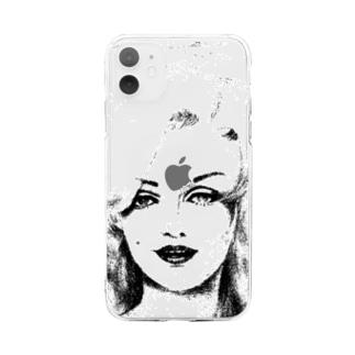 おんな:前面ver. Soft clear smartphone cases