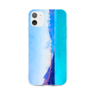 mksnのMOUNT COOK DRAW Soft clear smartphone cases