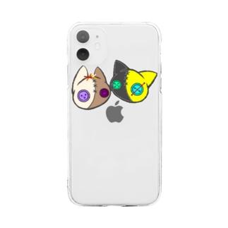 【つむぎはぎシリーズ】トラとウマ Soft clear smartphone cases
