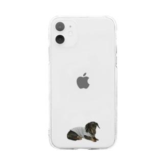 ふともも Soft clear smartphone cases