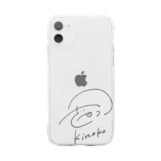 きのこちゃん Soft clear smartphone cases