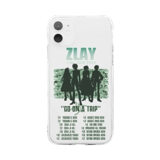 GO女TRIP TOUR(GREEN) Soft clear smartphone cases