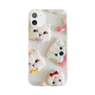 動物たちのパーティー Soft clear smartphone cases