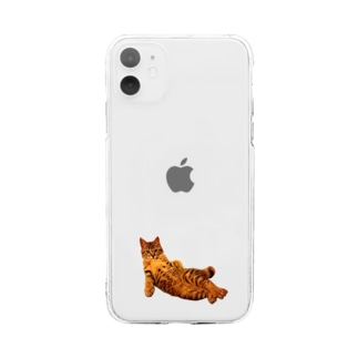 Elegant Cat 3 Soft clear smartphone cases