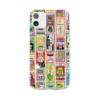 ドロウイングレシートB Soft clear smartphone cases