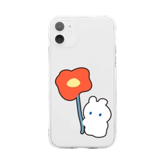 ポピーとうさぎ Soft clear smartphone cases