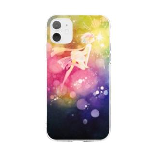 うつろいのキス Soft Clear Smartphone Case