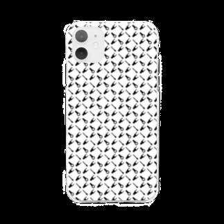 盤屋おしんの圧着端子パターン_モノクロ Soft clear smartphone cases