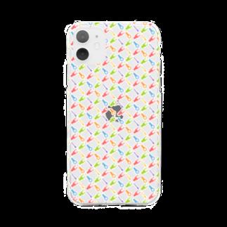 盤屋おしんの圧着端子パターン_カラー Soft clear smartphone cases