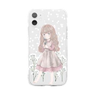 舞い上がる Soft clear smartphone cases