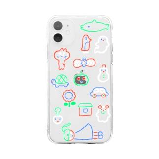 桜のネオン iPhone11 Soft clear smartphone cases