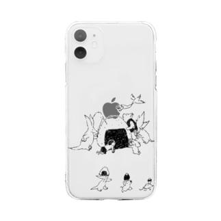 石川ともこのおにぎり Soft clear smartphone cases