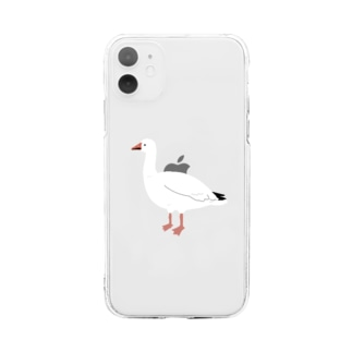 ハクガン Soft clear smartphone cases