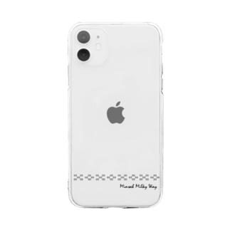 タツノコ商店のミンサーミルキーウェイ Soft clear smartphone cases