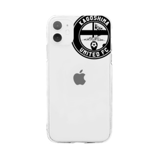 【 KUFC 】 BLACK LOGO GOODS Soft clear smartphone cases