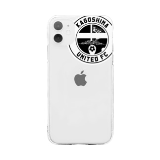【 KUFC 】 WHITE LOGO GOODS Soft clear smartphone cases