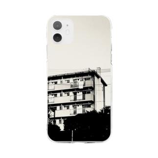 団地 3号棟 Soft clear smartphone cases