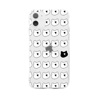 くまたち Soft clear smartphone cases