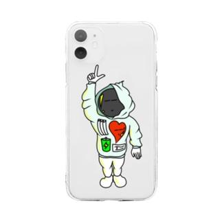 UCHUくんのスマホケース Soft clear smartphone cases