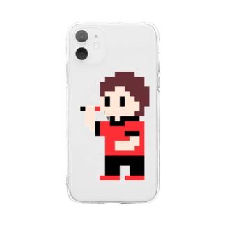 ダーツまろさん(ドット) Soft clear smartphone cases