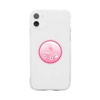 ローラースケート Soft clear smartphone cases