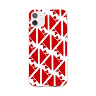 サーヴィエ行進曲 紅 Soft clear smartphone cases