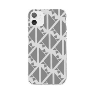 サーヴィエ行進曲 燻銀 Soft clear smartphone cases