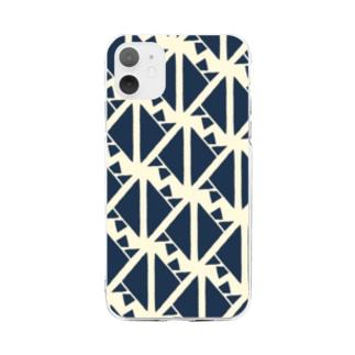 サーヴィエ行進曲 藍 Soft clear smartphone cases