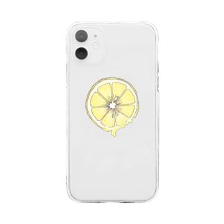 レモン Soft clear smartphone cases