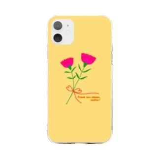 お母さんいつもありがとう! Soft clear smartphone cases